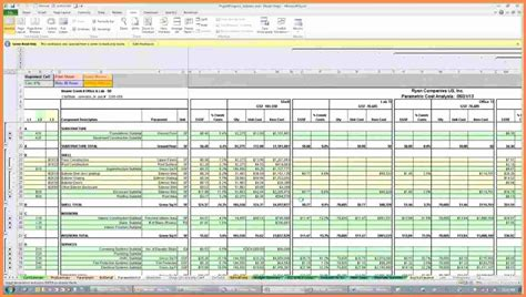 excel spreadsheet  construction estimating
