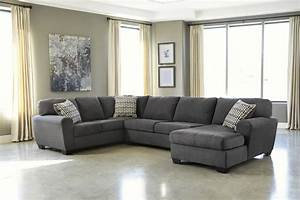Sorenton laf sofa and chaise sectional in slate for Mason grey sectional sofa