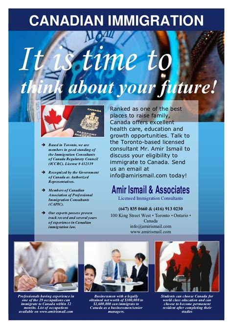 bureau immigration canada immigration to canada to the licensed consultant mr