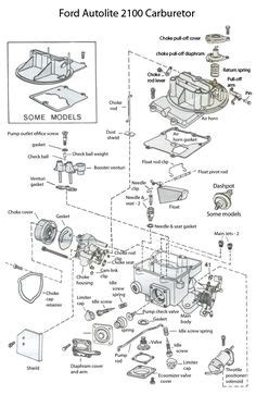 Fig Exploded View The Rochester Eme Carburetor