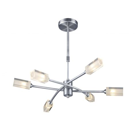 modern satin chrome ceiling pendant light