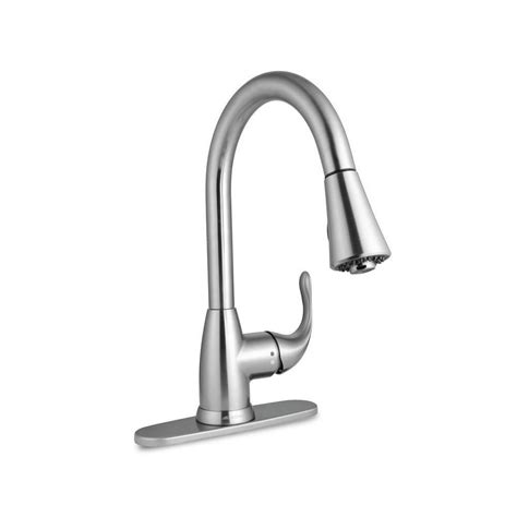 single kitchen faucet with sprayer glacier bay market single handle pull sprayer kitchen
