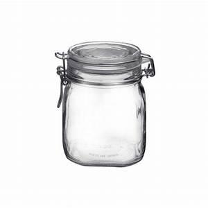Bocal En Verre Hermétique : bocal herm tique carr 75cl en verre pour terrine fido bormioli rocco ~ Teatrodelosmanantiales.com Idées de Décoration