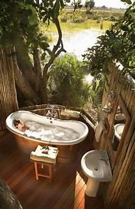 Salle De Bain Exotique : la salle de bain ext rieure entre l 39 exotisme et le romantisme ~ Teatrodelosmanantiales.com Idées de Décoration