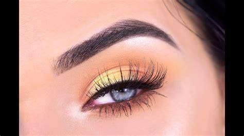 violet voss flamingo eyeshadow palette yellow eye makeup tutorial yellow eye makeup yellow