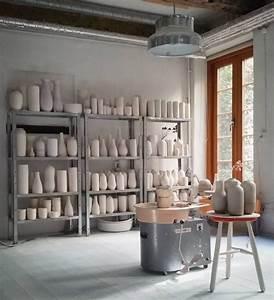 Studio Copenhagen : pottery studio metal shelves bumling lamp tortus ~ Pilothousefishingboats.com Haus und Dekorationen