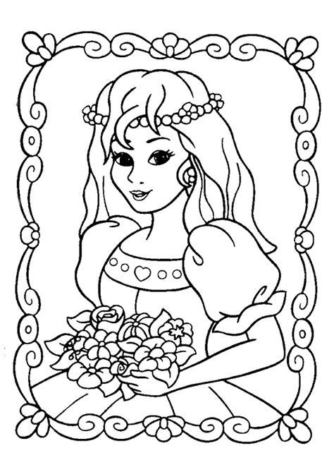 jeux de filles cuisine coloriage princesse et bouquet de fleurs