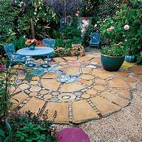 interesting patio design ideas using pavers Rock Patio Pictures and Ideas