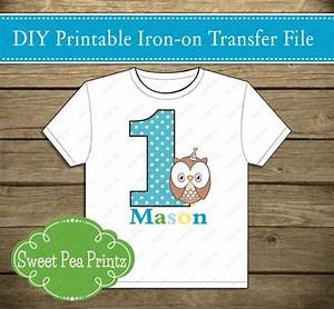 Printable Look Whoo's Turning One Boy 1st Birthday Iron On ...