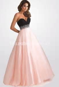 robe pour invitã mariage pas cher robe de bal au bustier très plongeant avec strass bicolore fuchsia
