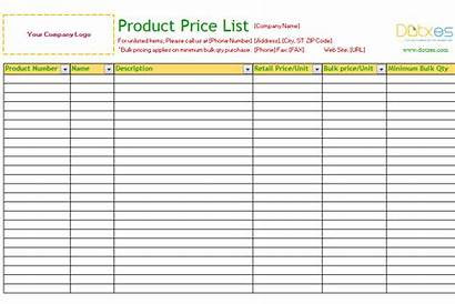 Template Dotxes Standard Excel