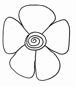 Easy Drawing Of Flower - ClipArt Best