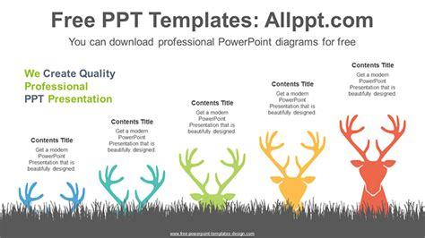 change deer antlers powerpoint diagram template change
