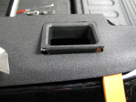exposing stake holescutting bed rail caps