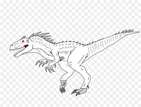 Kleurplaat Indominus Rex by Jurassic Park Da Colorare Portalebambini