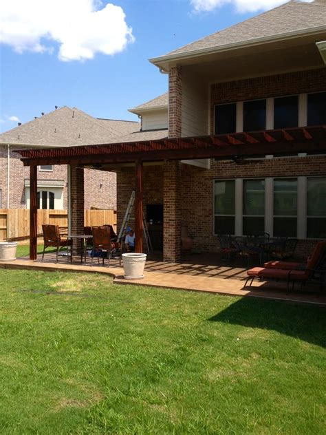 girsch pergola patio covers katy tx patio builder katy