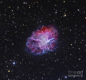 Crab Nebula In Blue Wallpaper Pictures