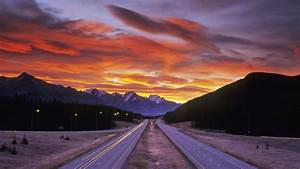Nature landscape road sunset mountain hd wallpaper ...