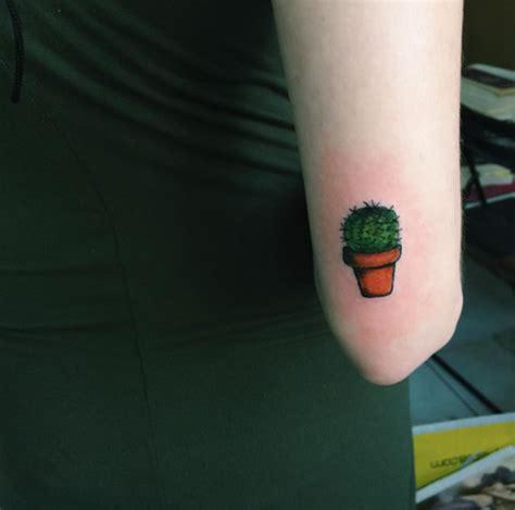 small cactus  pot tattoo   sleeve  goksen gokalp
