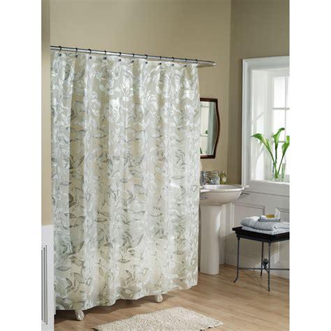 essential home shower curtain tea leaves vinyl peva home