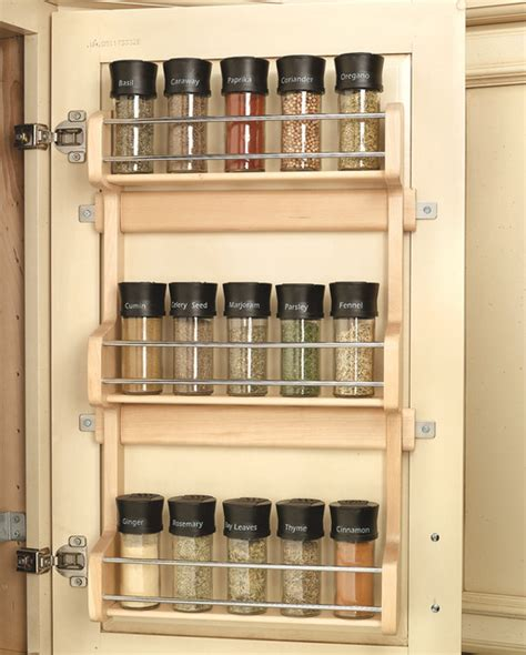 spice rack organizer for cabinet wood classics maple spice rack spice jars and spice