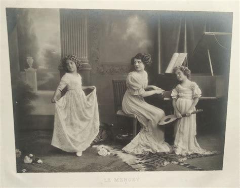 la musique de chambre photographie du début du xxème siècle le menuet