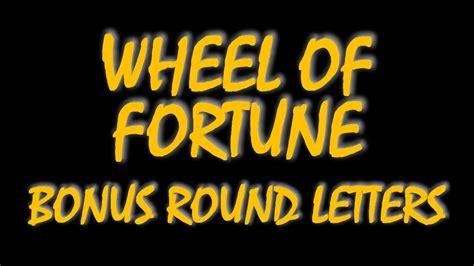 fortune wheel bonus round letters most common