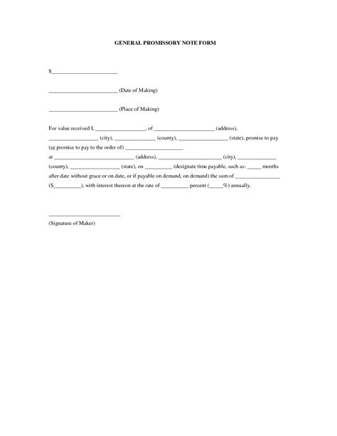 free promissory note template for personal loan basic promissory note sles vatansun