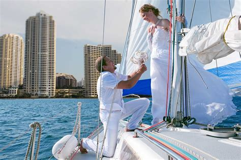 Boat Wedding Prices by Weddings On A Boat In South Florida Aboard A Sail Boat In