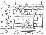 Coloring Fireplace Christmas Pages Drawing Fire Stocking Chimney Tree Sheets Colouring Drawings Burning Fireplaces Activities Bookmark Colorings Navidad Dibujos Read sketch template