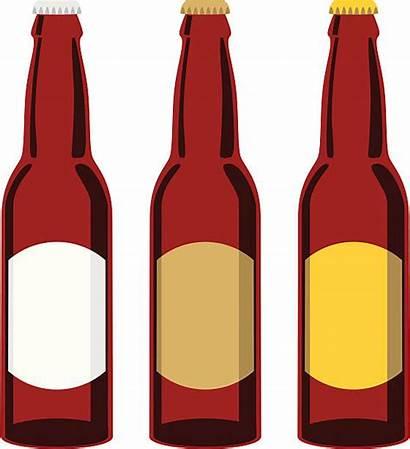 Beer Bottle Clip Clipart Bottles Vector Brown
