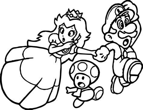 Super Mario Princess Mushroom Coloring Page