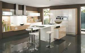 cuisine design selection 2011 des marques francaises With salle À manger contemporaine avec cuisine aménagée ou Équipée