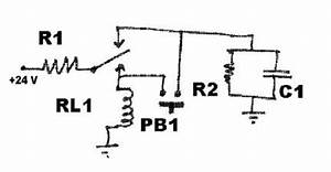 push on push off control circuit With push on off relay