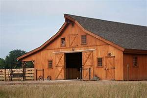 SD Horse Barn - Traditional - Garage And Shed - other
