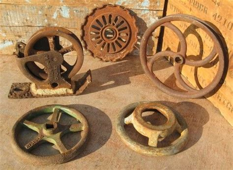 Details About Vintage Industrial Cast Iron Pulley Channon