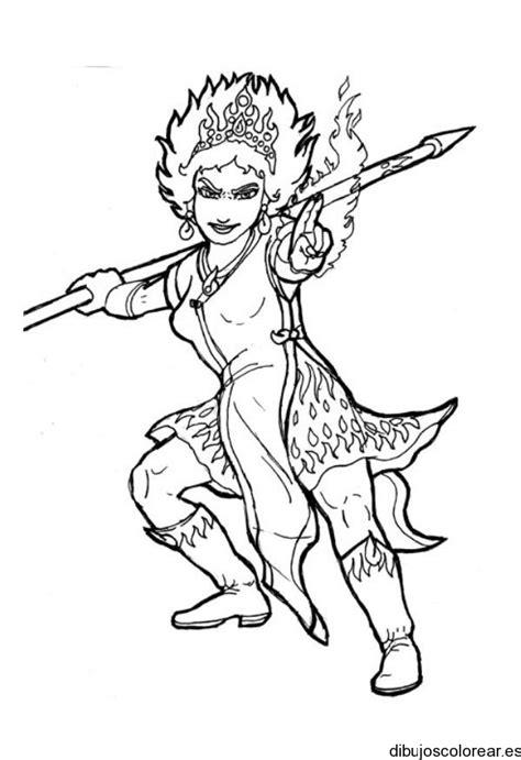 dibujo de una chica guerrera