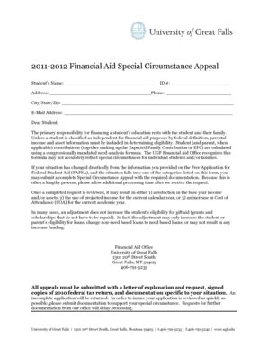 printable financial aid definition forms  templates