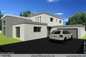 maison toit plat laura plan maison toit plat moderne With charming photo maison toit plat 5 photo de maison neuve toit plat