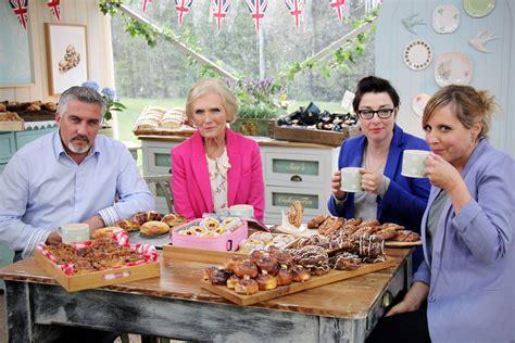 watching  great british baking show
