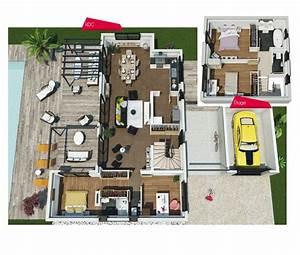les 25 meilleures idees concernant plan maison 120m2 sur With charming faire sa maison en 3d 2 maison a vendre maison moderne