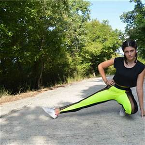 Handmade Black Neon Yellow Leggings Gym from