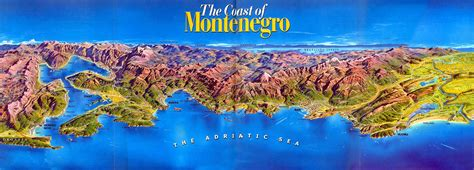 Montenegro is a country in southeast europe on the adriatic coast of the balkans. Montenegro Coast Map - Montenegro • mappery
