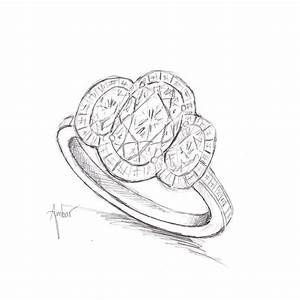 free hand drawing for custom crossover ring With drawing wedding rings