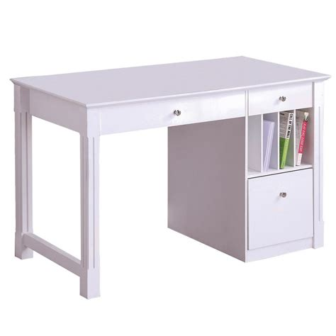 stylish computer tables walker edison deluxe solid wood desk white by oj