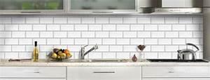 Carreau Metro Blanc : credence cuisine verre decor carrelage metro blanc ~ Preciouscoupons.com Idées de Décoration