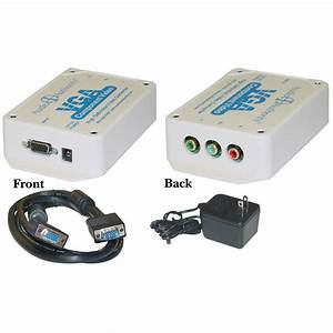 Vga To Component Video Converter  For Hdtvs  Hd15 To 3 Rca