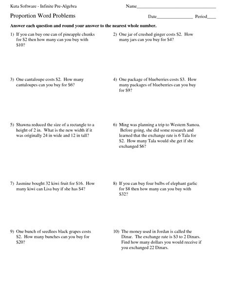 9 best images of percentage word problems worksheets