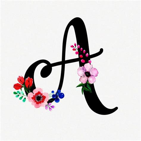 letter  watercolor floral background  vector httpiftttoqxv floral background