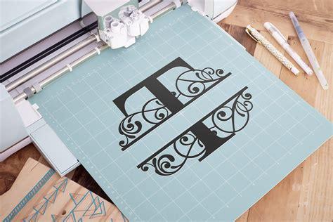 split monogram letter  svg letter  monogram svg letter